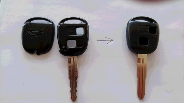 ボタン式ヘッド(黒いプラスチック)部分の入れ替え